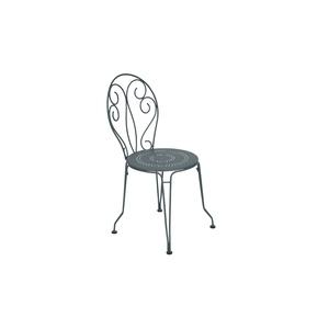 Chaise Montmartre Fermob en acier coloris gris orage 42,5 x 44 x 87 cm 437447