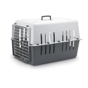Panier transport 66cm plastique Pet Carrier gris 440452