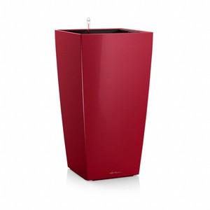 Pot à réserve d'eau Cubico Rouge scarlet L.40x40 x H.75 cm 441361