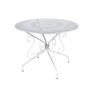 Table Montmartre Fermob en acier coloris blanc coton Ø 96 cm 450555