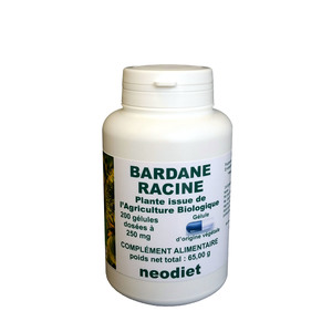 Gélules de bardane bio en boite de 200 unités 450757