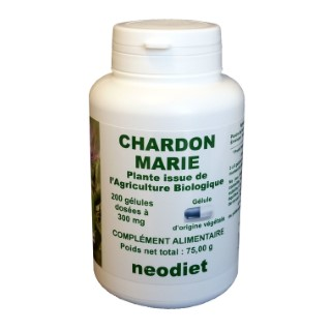 Gélules de chardon marie bio en boite de 200 unités 450767