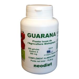 Gélules de guarana bio en boite de 200 unités 450771
