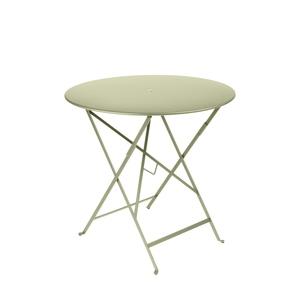Table ronde pliante Bistro Fermob en acier coloris tilleul Ø 77 cm 450860