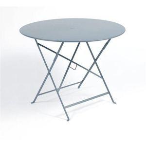 Table ronde pliante Bistro Fermob en acier coloris gris orage Ø 96 cm 450863
