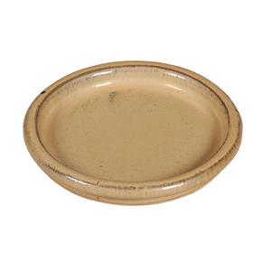 Soucoupe ronde en grès émaillé coloris blanc crème Ø 24 x 3,5 cm 451500