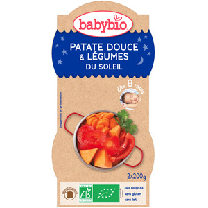 Bonne Nuit Patates Douces bio dès 8 mois - 2 x 200 gr 45207