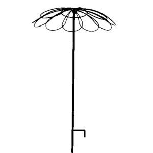 Tuteur parapluie 9 pétales anti rotation fer vieilli – 2,5 m de haut 452158