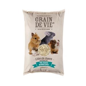 Litière de chanvre petits mammifères Grain de vie® - 10L 456444