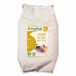 Farine de blé bise T80 bio en sachet de 1 kg 456981