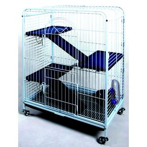 Cage tower pour rongeurs bleue 64x44xH93 cm 46059