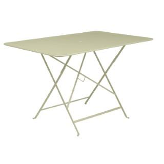Table pliante Bistro Fermob en acier coloris tilleul 117 x 77 x 74 cm 463365
