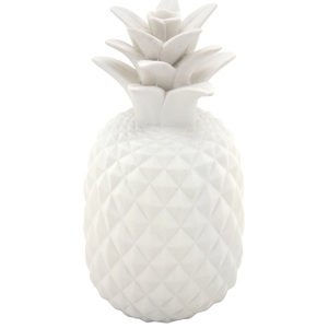 Ananas décoratif blanc Ø 12 cm 463692