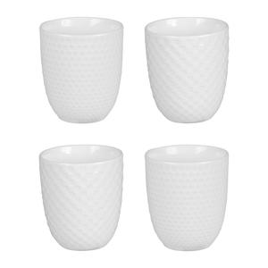 Coffret de 4 gobelets snow blancs en porcelaine de 20 cl 471587