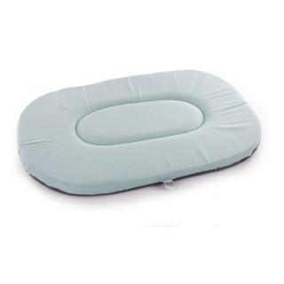 Coussin ovale plat gris bleu - 50 cm 476907