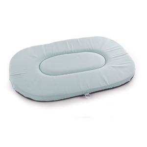 Coussin ovale plat gris bleu - 70 cm 476911