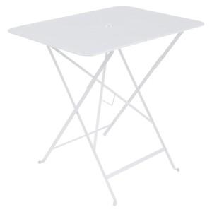 Table pliante Bistro Fermob en acier coloris blanc coton 77 x 57 x 74 cm 478196