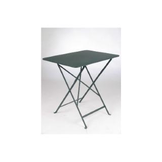 Table pliante Bistro Fermob en acier coloris tilleul 77 x 57 x 74 cm 478201