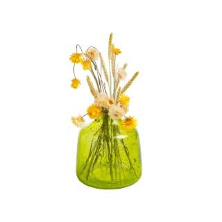 Vase en verre vert 17.5 x 17.5 x 19 cm 479983
