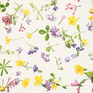 Serviettes x20 3 plis 25x25 cm Scattered flowers 480300