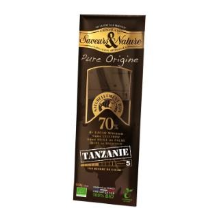 Chocolat noir grand cru TANZANIE SAVEUR ET NATURE 48234