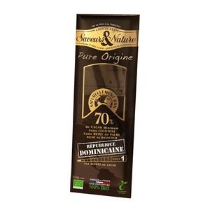Chocolat noir 70% grand cru République Dominicaine SAVEUR ET NATURE 48271