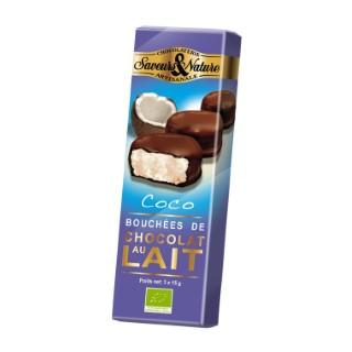 Bouchées de noix de coco enrobées de chocolat au lait 45 g 48274
