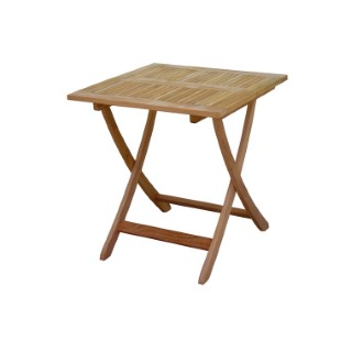 Table pliante carrée Costa en teck 70 x 70 x H 74 cm 487280