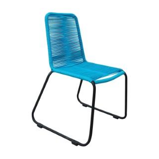 Chaise Padro bleue en aluminium et polypropylène 60 x 60 x 90 cm 487282