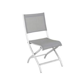 Chaise pliante blanche Cimatella 47 x 62 x 89 cm 487323