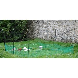 Filet-enclos pour poules petit modèle H 125 cm x 12 m 487489
