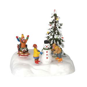Scène de Noël animée S'amuser dans la neige 491840