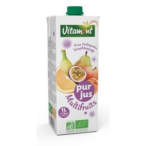 Multifruits mélange pur jus et purée de fruits bio 1 L 49396