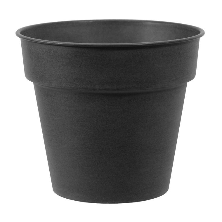 Pot horticole en acier peint anthracite Ø 27 x H 24 cm 400015