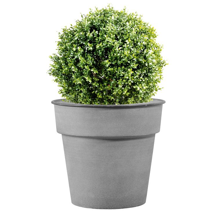 Pot horticole en acier peint gris clair Ø 37 x H 32 cm 400023