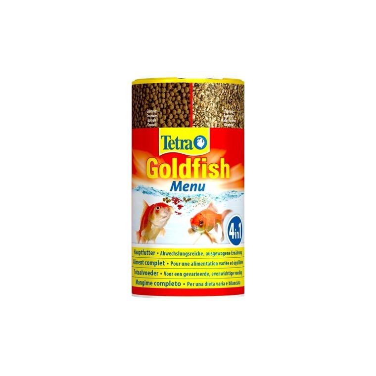 Aliment pour poissons Tetra Goldfish Menu. La boite de 250 ml 634241