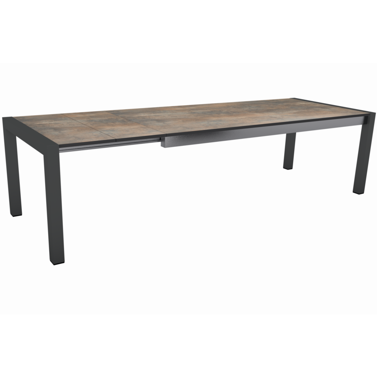 Table extensible Stern alu & HPL anthracite ferro 214/254/294 x 100 cm 400512