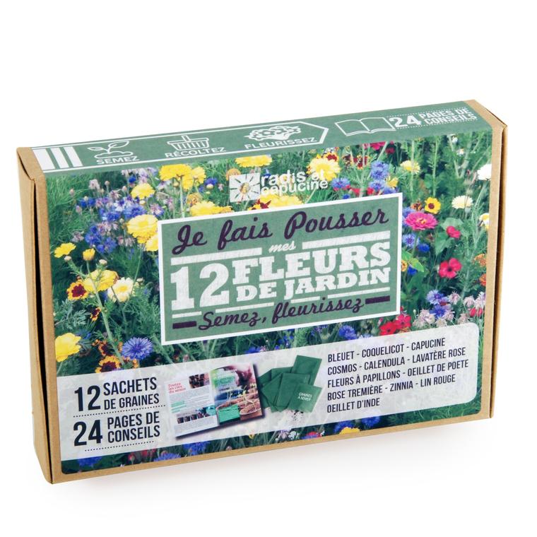 Coffret de 12 sachets de fleurs 400521