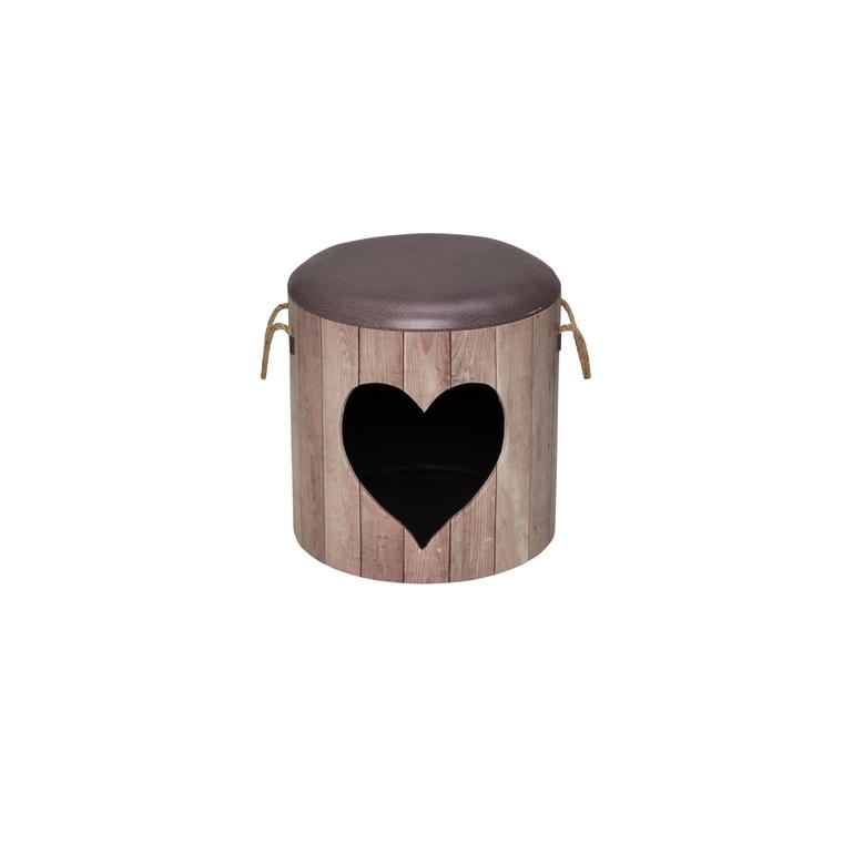 Maisonnette pet box heart anthracite Ø 35 x H 34 cm 402157