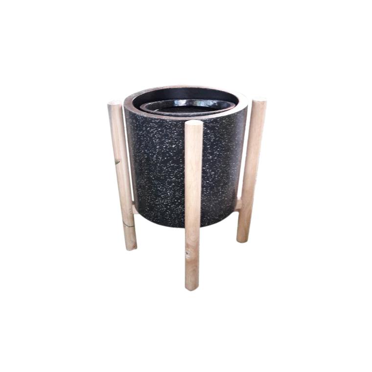 Fontaine de jardin Cylindre - 32 x 32 x 47 cm 402376