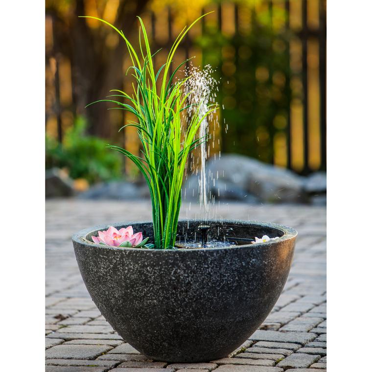 Fontaine ronde avec plantes artificielles - 55x55x30cm 402379
