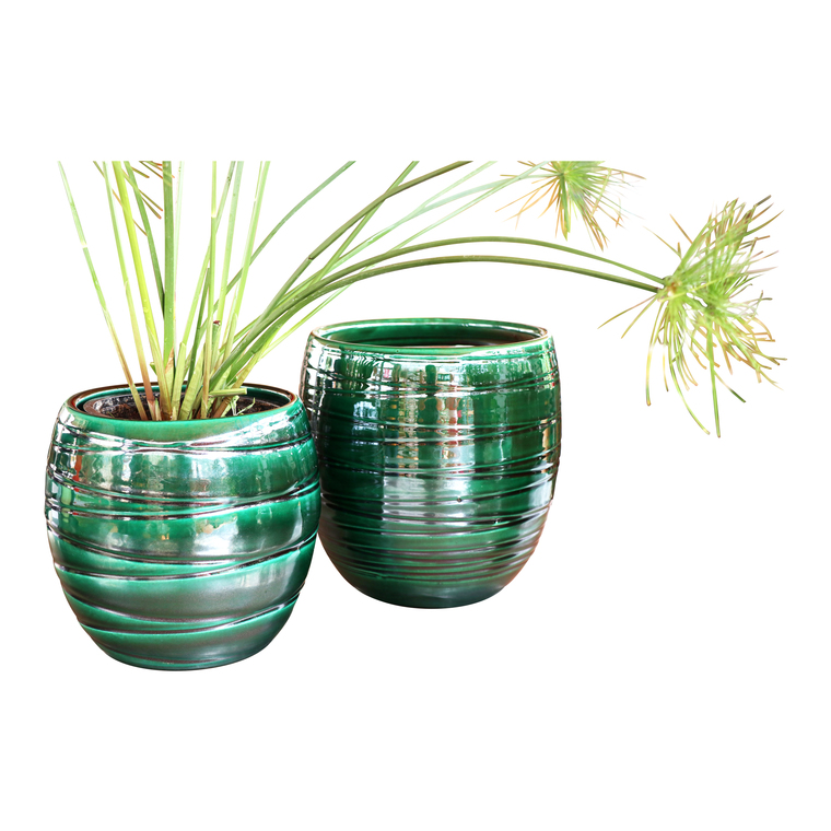 Pot vert gamme volupté Ø 18 cm 402681