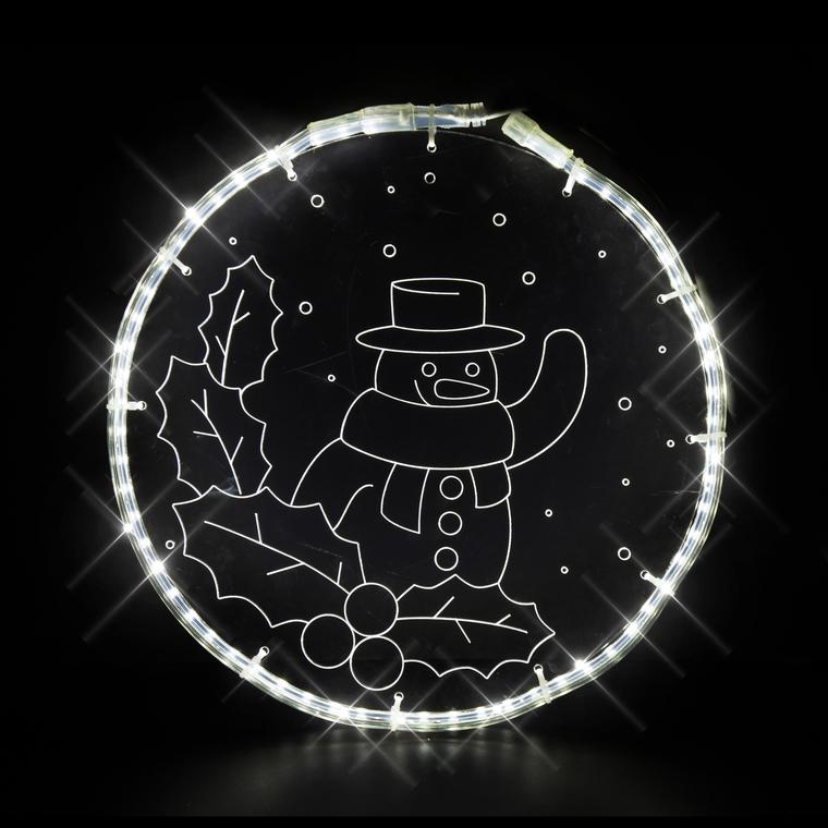 Décoration lumineuse Magic Glass Bonhomme de Neige 348497