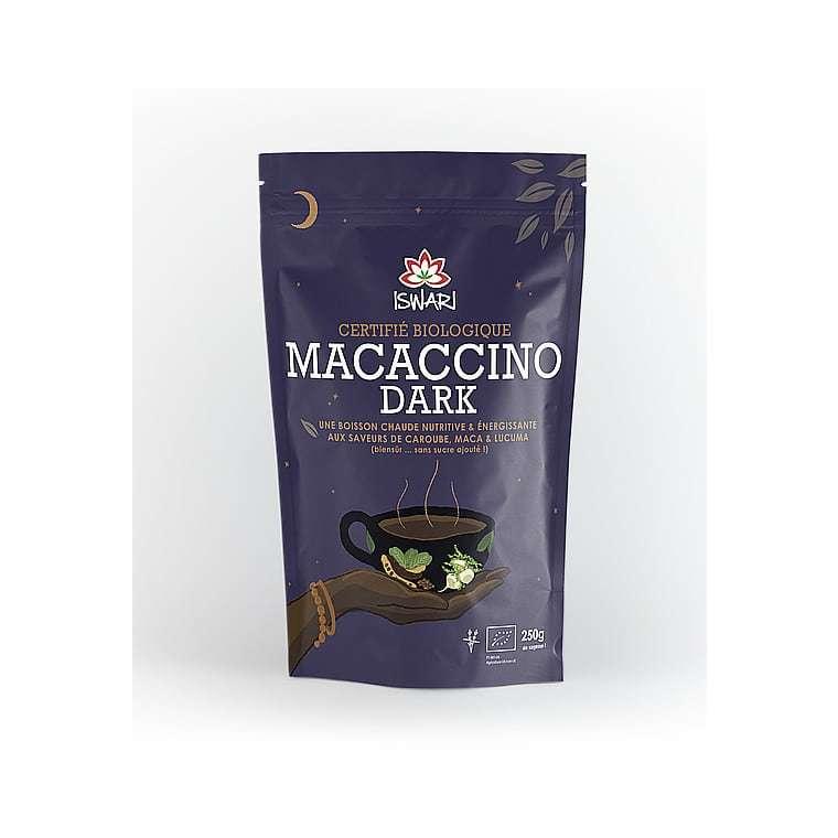 Macaccino dark bio en paquet bleu de 250 g 405613