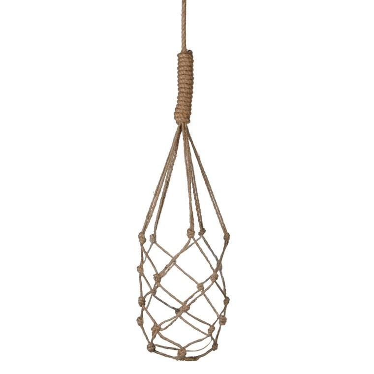 Suspension macramé Yula en corde marron H 75 cm pour pot de 14,5 cm 406081