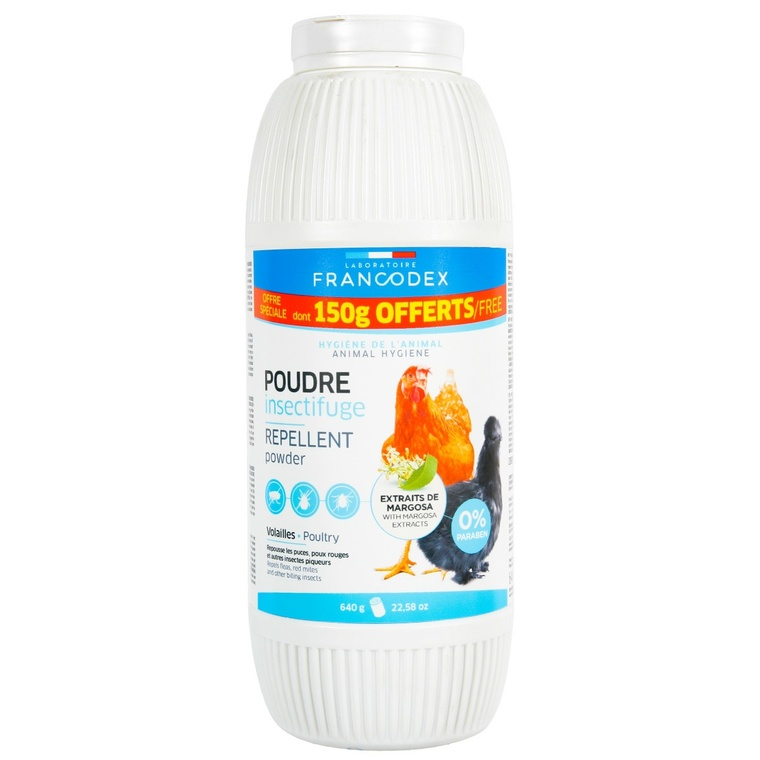 Poudre insectifuge pour volailles 640g 406630