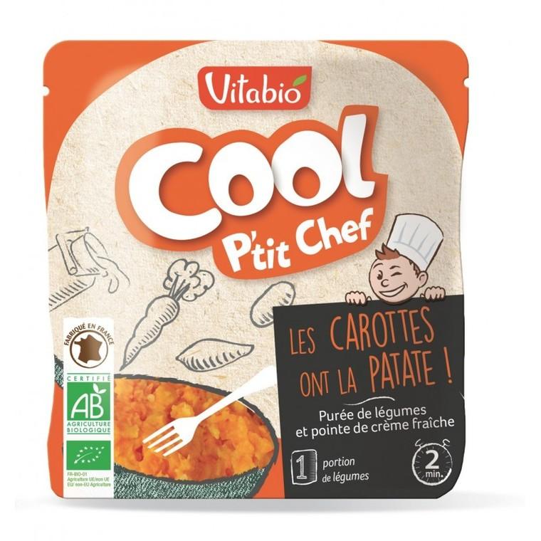 Gourde Cool p'tit chef bio purée de carottes et patates douces 190 g 406832