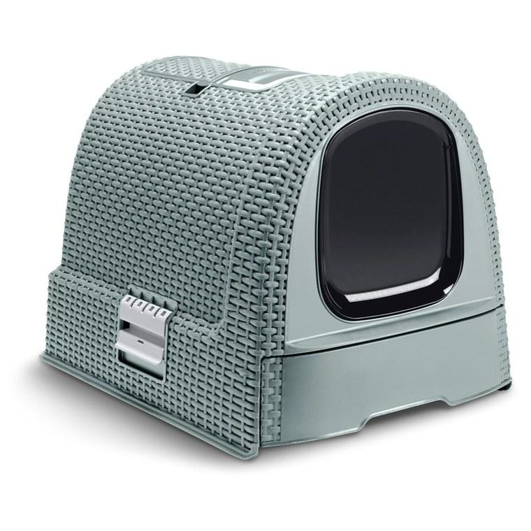 Maison de toilette pour chat Curver® bleu foncé 407128