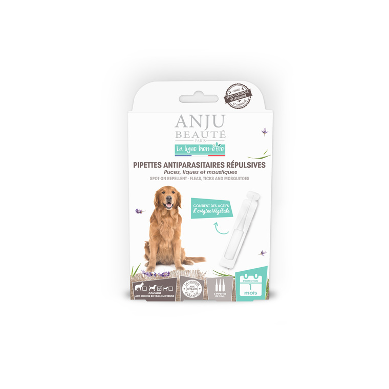 Pipette insectifuge pour chien de taille moyenne x 3 407137
