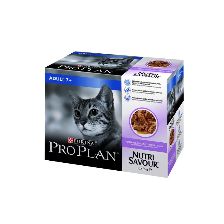 Boite de 10 sachets pour chat senior PP Wet Cat Adult 7+ Dinde 10x85 g 407339